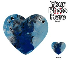 Blue Abstract No 2 Playing Cards 54 (heart)