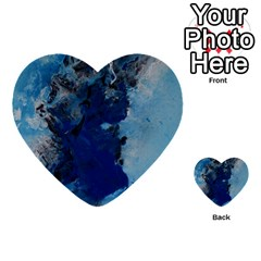 Blue Abstract No 2 Multi Purpose Cards (heart)