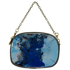 Blue Abstract No 2 Chain Purses (one Side)