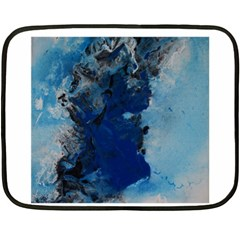 Blue Abstract No 2 Fleece Blanket (mini)