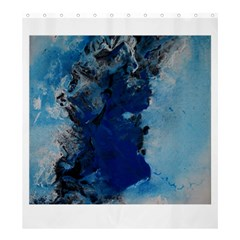 Blue Abstract No.2 Shower Curtain 66  x 72  (Large)