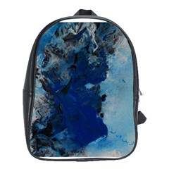 Blue Abstract No 2 School Bags(large)