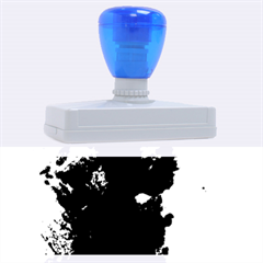 Blue Abstract No.2 Rubber Address Stamps (XL)