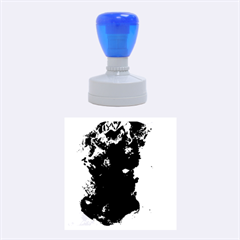 Blue Abstract No 2 Rubber Round Stamps (medium)