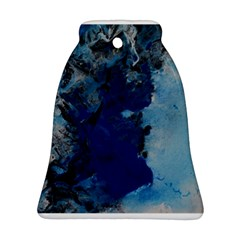Blue Abstract No.2 Bell Ornament (2 Sides)