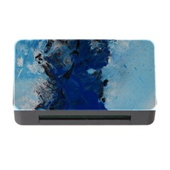 Blue Abstract No 2 Memory Card Reader With Cf