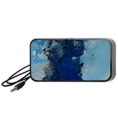 Blue Abstract No.2 Portable Speaker (Black)