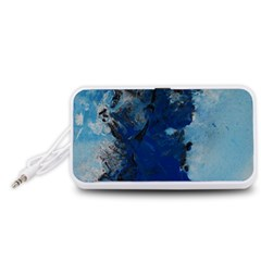 Blue Abstract No.2 Portable Speaker (White)