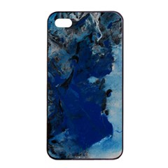 Blue Abstract No 2 Apple Iphone 4/4s Seamless Case (black)