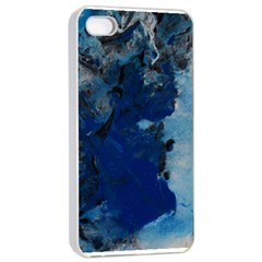 Blue Abstract No 2 Apple Iphone 4/4s Seamless Case (white)