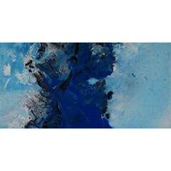 Blue Abstract No 2 You Are Invited 3d Greeting Card (8x4)