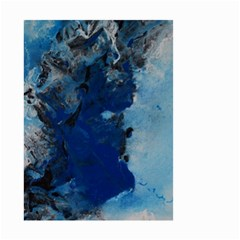 Blue Abstract No 2 Small Garden Flag (two Sides)