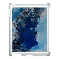 Blue Abstract No 2 Apple Ipad 3/4 Case (white)