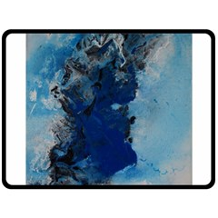 Blue Abstract No.2 Double Sided Fleece Blanket (Large)