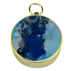 Blue Abstract No 2 Gold Compasses