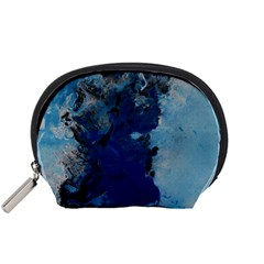 Blue Abstract No 2 Accessory Pouches (small)
