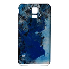 Blue Abstract No 2 Samsung Galaxy S5 Back Case (white)