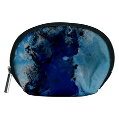 Blue Abstract No 2 Accessory Pouches (medium)