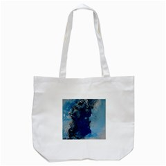 Blue Abstract No.2 Tote Bag (White)