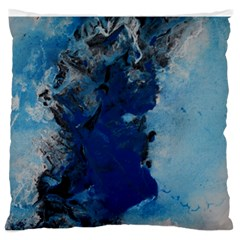 Blue Abstract No.2 Large Flano Cushion Cases (Two Sides)
