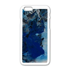Blue Abstract No.2 Apple iPhone 6 White Enamel Case