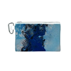 Blue Abstract No.2 Canvas Cosmetic Bag (S)