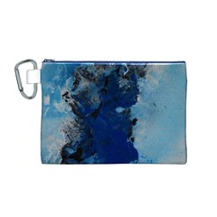 Blue Abstract No.2 Canvas Cosmetic Bag (M)
