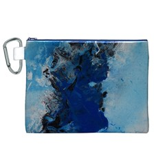 Blue Abstract No.2 Canvas Cosmetic Bag (XL)