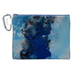 Blue Abstract No.2 Canvas Cosmetic Bag (XXL)