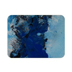 Blue Abstract No 2 Double Sided Flano Blanket (mini)