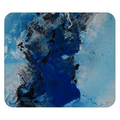 Blue Abstract No 2 Double Sided Flano Blanket (small)