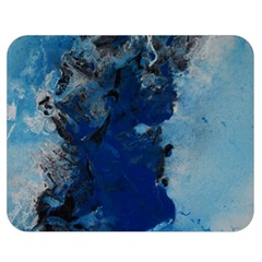 Blue Abstract No.2 Double Sided Flano Blanket (Medium)