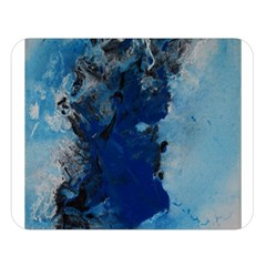 Blue Abstract No.2 Double Sided Flano Blanket (Large)