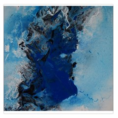 Blue Abstract No.2 Large Satin Scarf (Square)