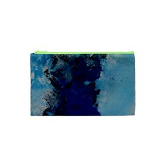 Blue Abstract No.2 Cosmetic Bag (XS)