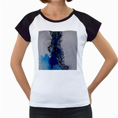 Blue Abstract No.3 Women s Cap Sleeve T