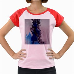 Blue Abstract No.3 Women s Cap Sleeve T-Shirt