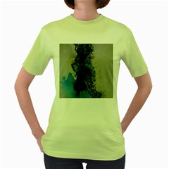 Blue Abstract No.3 Women s Green T-Shirt