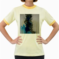 Blue Abstract No 3 Women s Fitted Ringer T Shirts