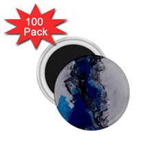 Blue Abstract No 3 1 75  Magnets (100 Pack)