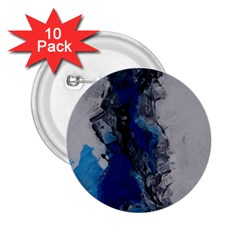 Blue Abstract No 3 2 25  Buttons (10 Pack)