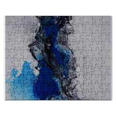 Blue Abstract No 3 Rectangular Jigsaw Puzzl