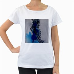 Blue Abstract No 3 Women s Loose Fit T Shirt (white)