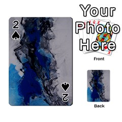 Blue Abstract No.3 Playing Cards 54 Designs
