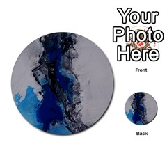 Blue Abstract No.3 Multi-purpose Cards (Round)
