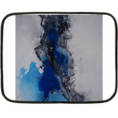 Blue Abstract No.3 Fleece Blanket (Mini)
