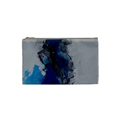 Blue Abstract No 3 Cosmetic Bag (small)