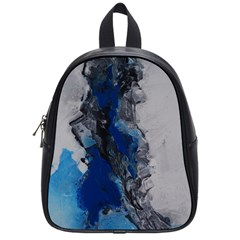 Blue Abstract No 3 School Bags (small)