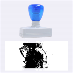 Blue Abstract No.3 Rubber Stamps (Large)