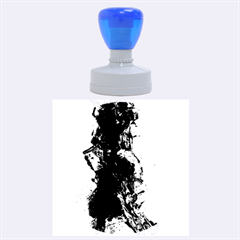 Blue Abstract No.3 Rubber Round Stamps (Large)